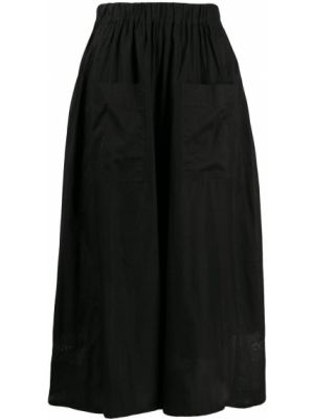 Юбка миди с завышенной талией - черная Zucca