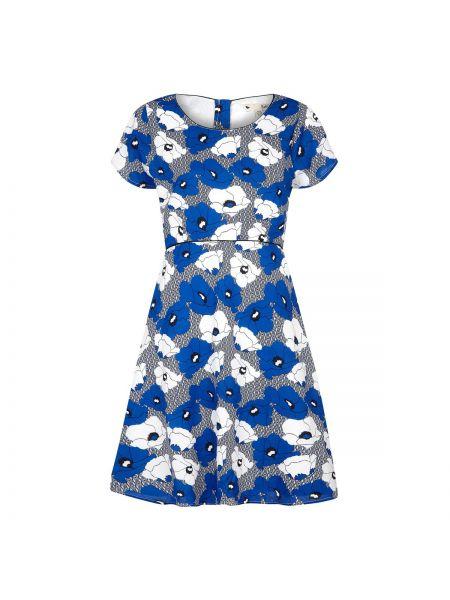 Платье мини с цветочным принтом расклешенное Yumi