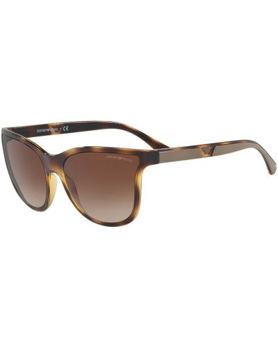 Солнцезащитные очки стеклянные коричневый Emporio Armani