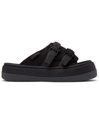 Czarne sandały na obcasie skorzane Eytys