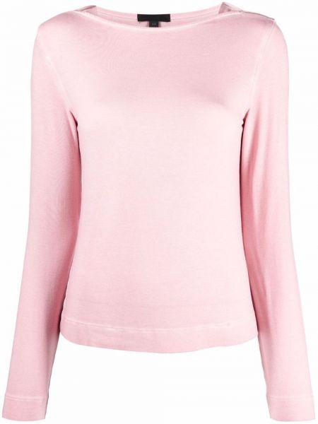 Różowa koszulka z wiskozy Atm Anthony Thomas Melillo