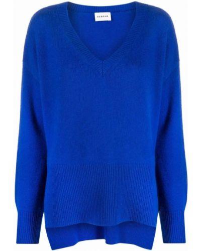 Синяя джемпер с V-образным вырезом P.a.r.o.s.h.
