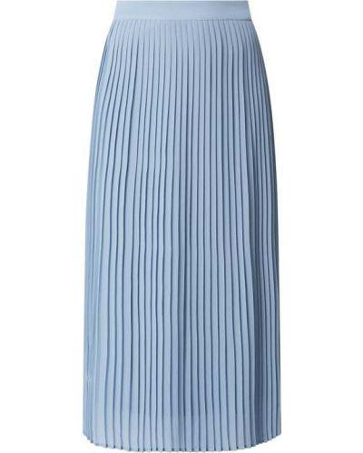 Niebieska spódnica maxi rozkloszowana z szyfonu Vila