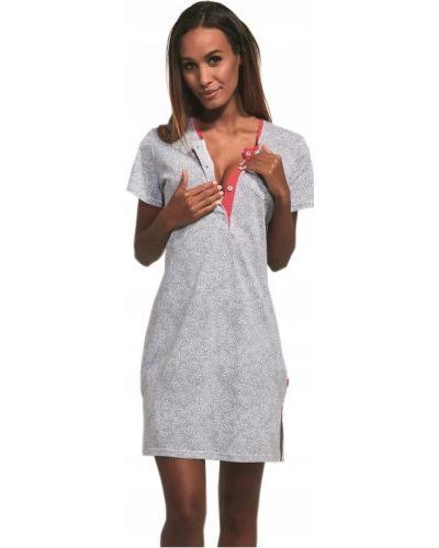 Różowa koszula nocna bawełniana krótki rękaw Cornette