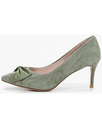 Туфли на каблуке лодочки зеленый Marie Collet