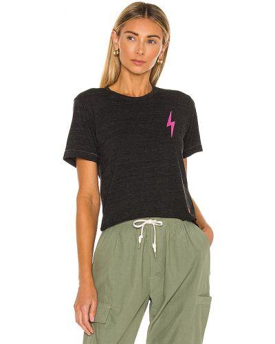 Światło bawełna bawełna czarny t-shirt Aviator Nation