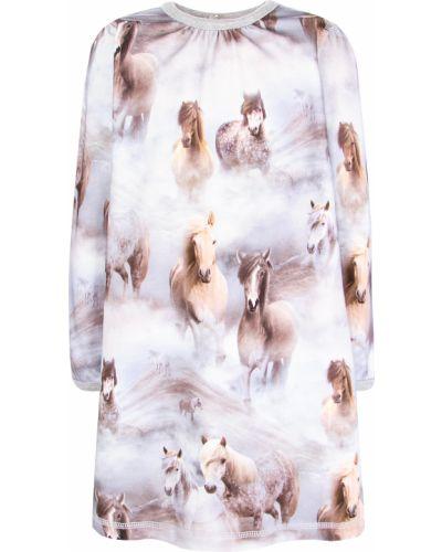Серое хлопковое платье Molo