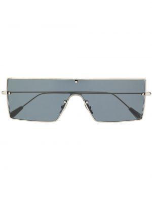 Прямые серебряные солнцезащитные очки металлические Kaleos