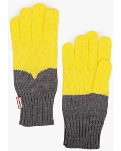 Текстильные желтые перчатки Hunter