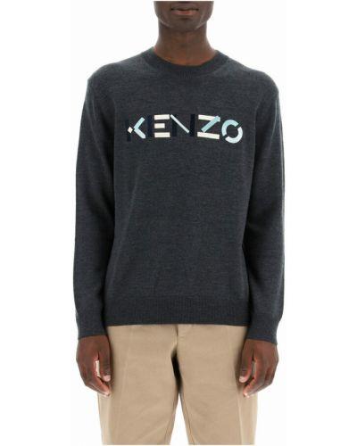 Sweter z haftem - szary Kenzo