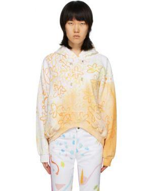 Bluza z kapturem na ramieniu z kwiatowym nadrukiem Collina Strada
