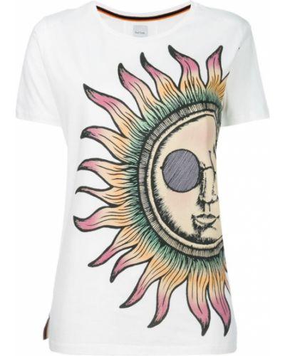 Белая свободная футболка Paul Smith