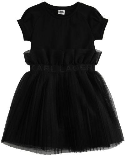 Черное платье из фатина с подкладкой Karl Lagerfeld