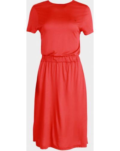Свободное красное платье мини свободного кроя Mexx