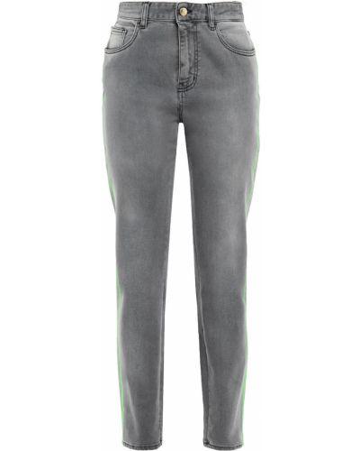 Хлопковые серые джинсы с поясом Just Cavalli
