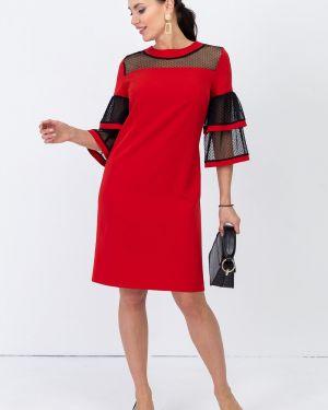 Вечернее платье миди - красное Taiga
