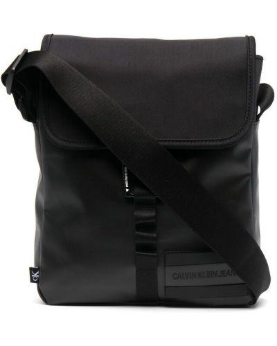 Нейлоновая черная сумка на плечо с карманами Calvin Klein