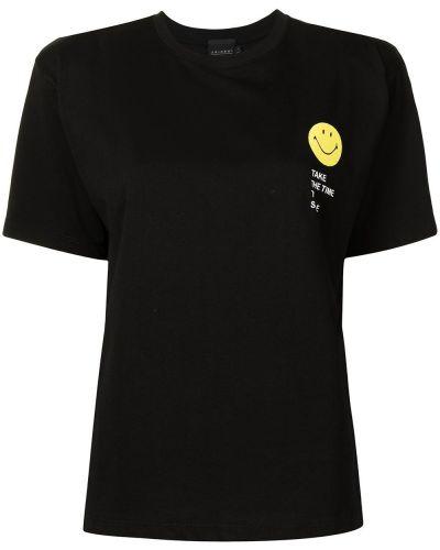 Czarna T-shirt z nadrukiem bawełniana Joshua Sanders