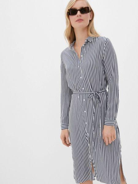 Платье платье-рубашка синее Befree