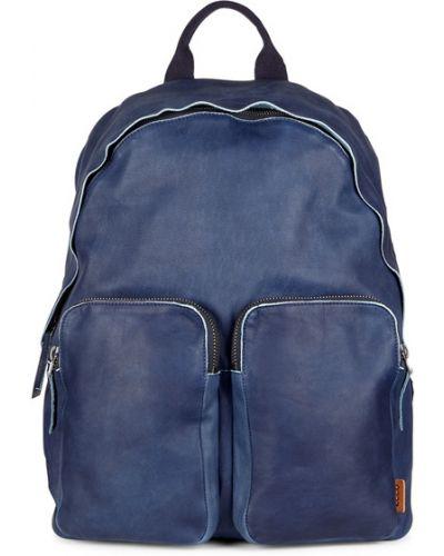 Рюкзак кожаный синий Ecco