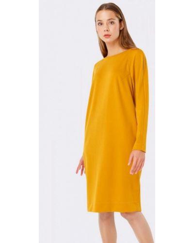 Платье осеннее прямое Cat Orange