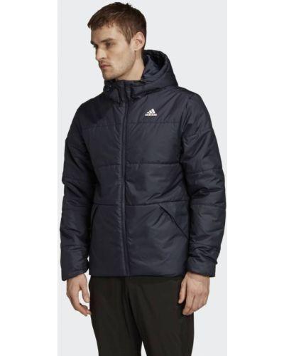Теплая утепленная куртка на шнурках Adidas
