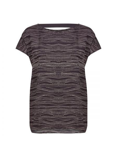 Черная блузка с вырезом с рисунком из вискозы NÜmph