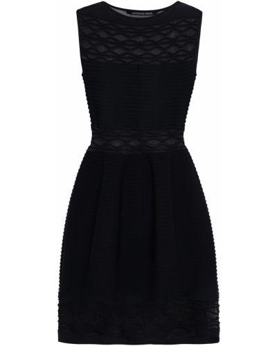Czarna sukienka z wiskozy Antonino Valenti