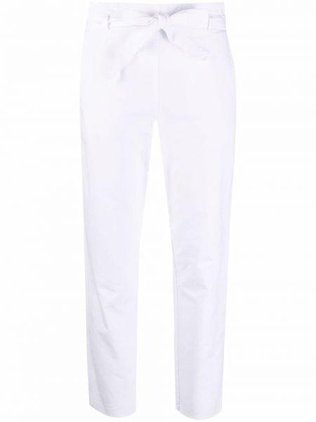 Хлопковые белые укороченные брюки с карманами Kristensen Du Nord