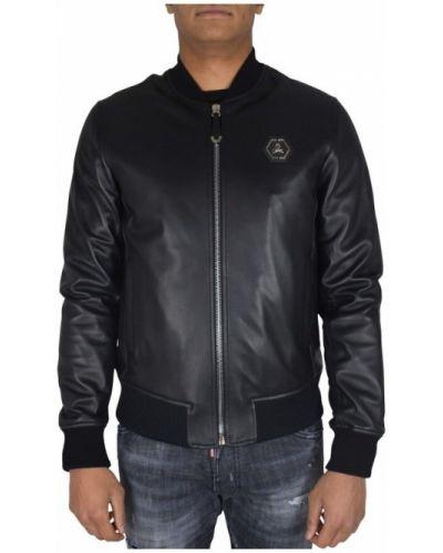 Czarna kurtka z haftem Philipp Plein