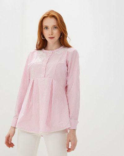 Блузка с длинным рукавом розовая турецкий Lusio