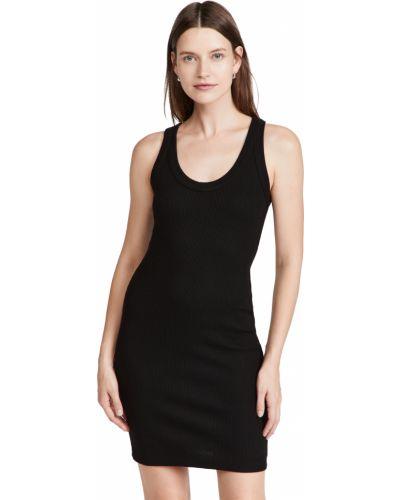 Sukienka prążkowana - czarna Monrow