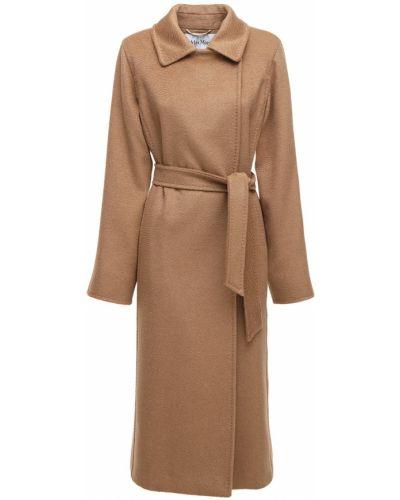 Коричневое пальто на пуговицах Max Mara