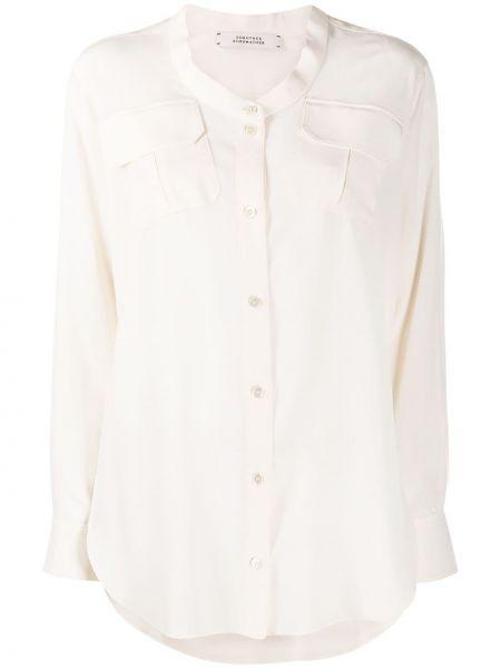 Шелковая блузка с вырезом с карманами Dorothee Schumacher