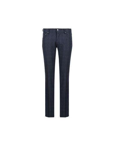 Шерстяные синие брюки Jacob Cohen