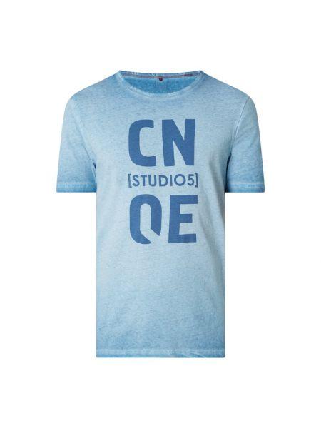 T-shirt z printem - niebieska Cinque