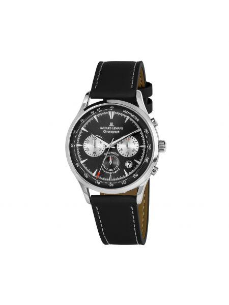 Zegarek srebrny - czarny Jacques Lemans