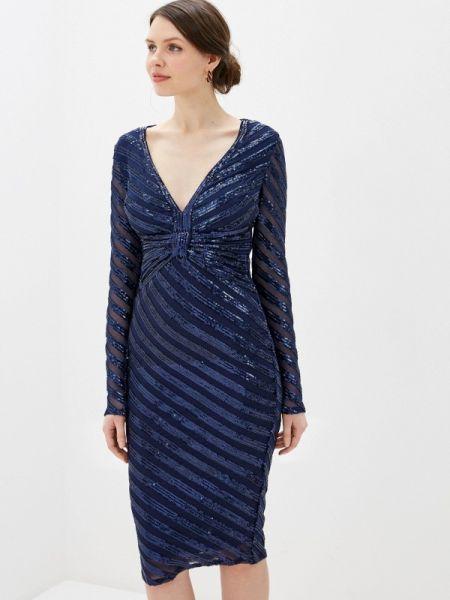 Вечернее платье синее весеннее Goddiva