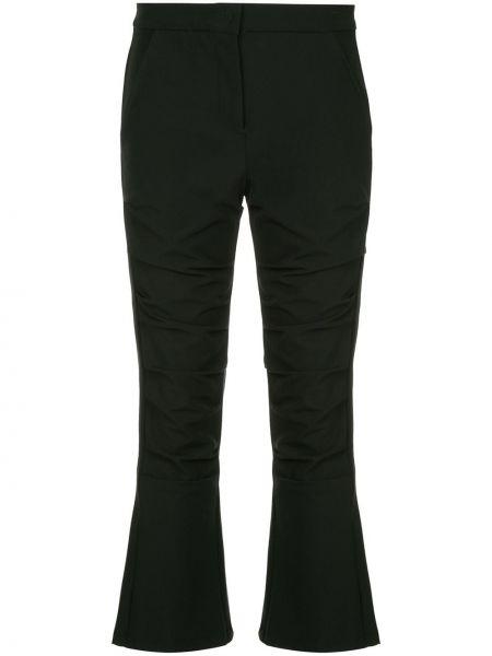 Брючные черные расклешенные укороченные брюки с поясом Taylor