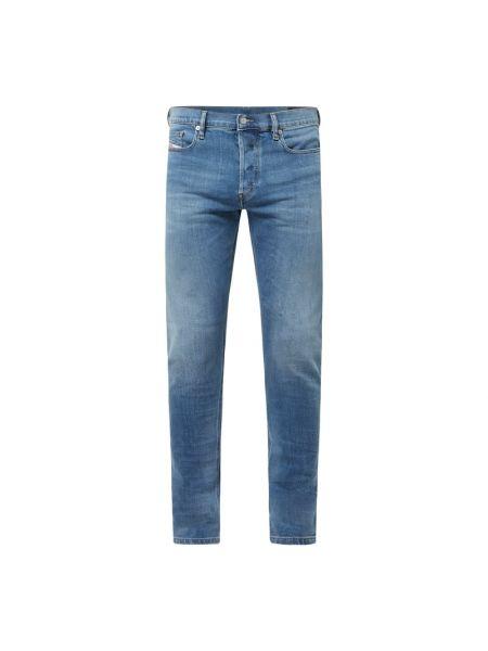 Bawełna bawełna niebieski jeansy z paskami Diesel