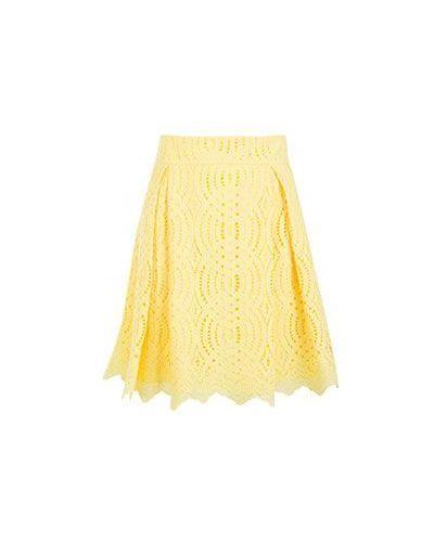 Повседневная хлопковая желтая юбка Vuall