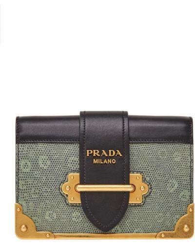 Сумка на цепочке кожаный с клапаном Prada