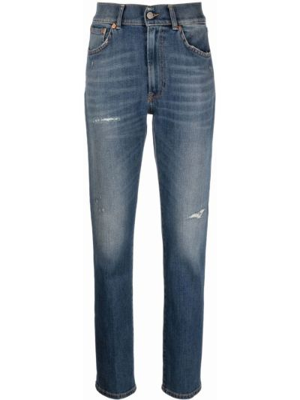 Синие джинсы из эластана Dondup