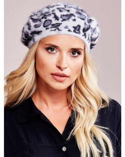 Szary beret z angory Fashionhunters