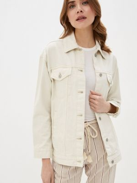 Бежевая джинсовая куртка Marks & Spencer