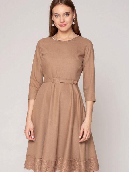 Бежевое платье Luisa Wang