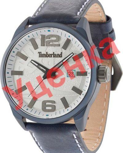 Белые с ремешком кожаные часы на кожаном ремешке Timberland