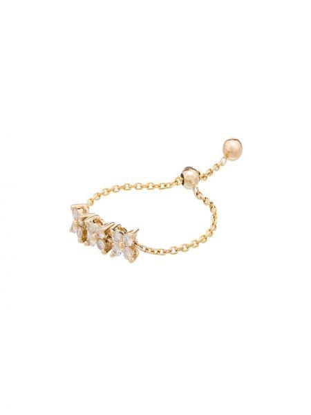 Кольцо золотое с бриллиантом на шнурках Anissa Kermiche