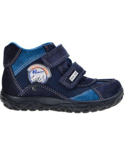 Ботинки замшевые синие Naturino