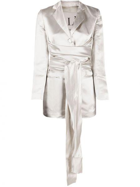 Прямой пиджак с поясом на пуговицах L'autre Chose